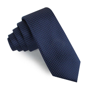 Ray Kroc Blue Pin Dot Skinny Tie