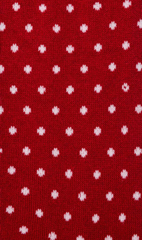 Red Polka Dots Cotton-Blend Socks