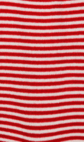 Red & White Thin Pinstripes Cotton-Blend Socks