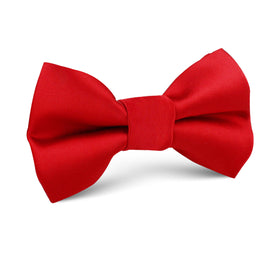 Red Cherry Satin Kids Bow Tie