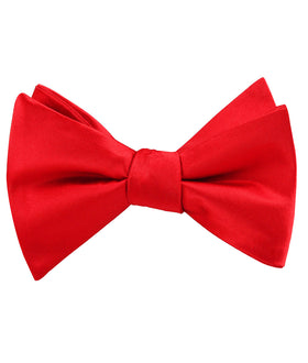 Red Cherry Satin Self Bow Tie