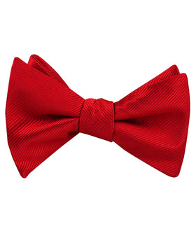Red Cherry Twill Self Bow Tie