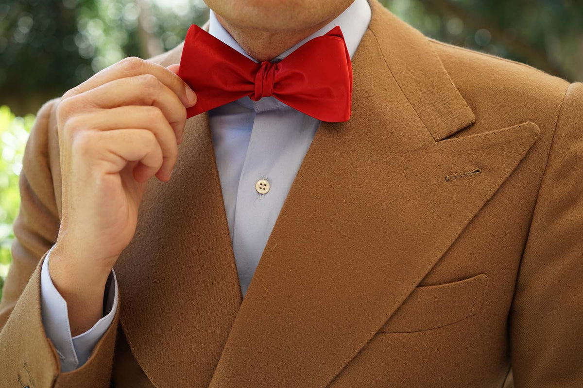 Red Maroon - Bow Tie (Untied)