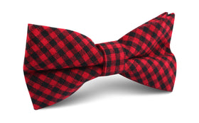 Red Belfast Gingham Bow Tie