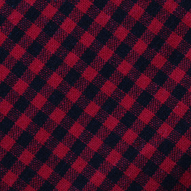 Red Belfast Gingham Pocket Square