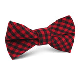 Red Belfast Gingham Kids Bow Tie