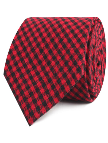 Red Belfast Gingham Tie