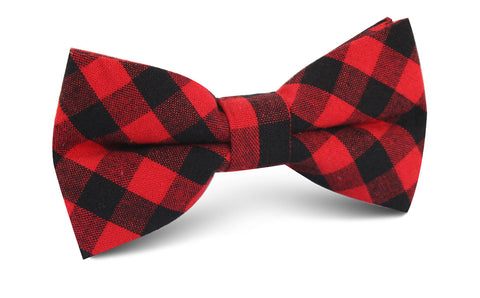 Red & Black Gingham Bow Tie