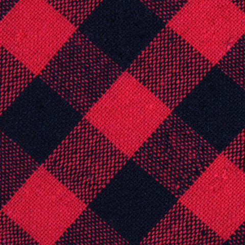 Red & Black Gingham Pocket Square