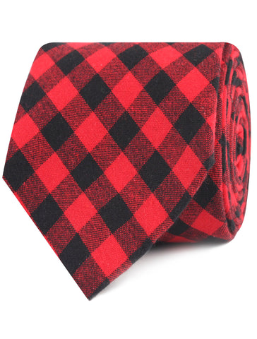 Red & Black Gingham Tie