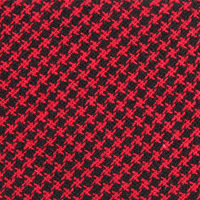 Red & Black Houndstooth Cotton Kids Bow Tie