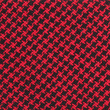 Red & Black Houndstooth Cotton Fabric Self Tie Diamond Tip Bow Tie C165
