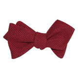 Red & Black Houndstooth Cotton Self Tie Diamond Tip Bow Tie 2