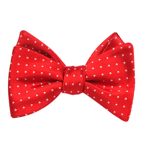 Red Bow Tie Untied with White Polka Dots