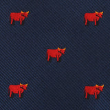 Red Bull Bow Tie Fabric
