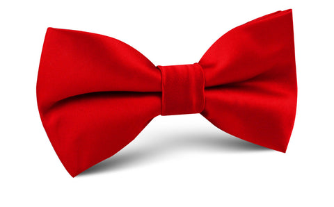 Red Cherry Satin Bow Tie
