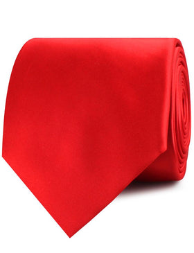 Red Cherry Satin Necktie