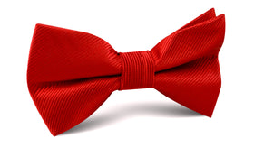 Red Cherry Twill Bow Tie
