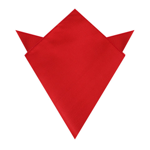 Red Cherry Twill Pocket Square
