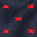 Red Crab Self Bow Tie Fabric