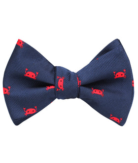 Red Crab Self Bow Tie