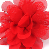 Red Flower Lapel Pin Close Boutonniere