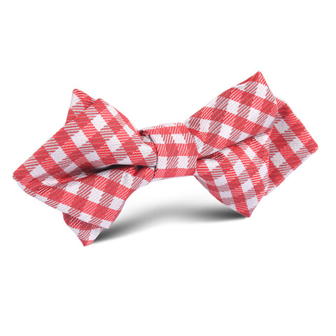 Red Gingham Diamond Bow Tie