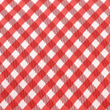 Red Gingham Fabric Self Tie Bow Tie X453