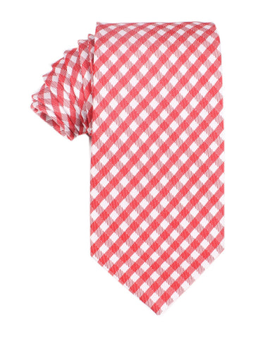 Red Gingham Necktie