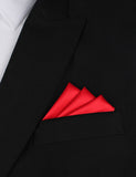 Red Maroon - Oxygen Three Point Pocket Square Fold