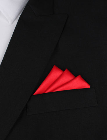 Red Maroon - Pocket Square