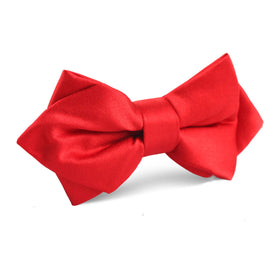 Red Maroon Diamond Bow Tie