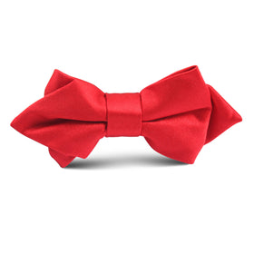 Red Maroon Kids Diamond Bow Tie