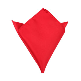 Red Maroon Pocket Square