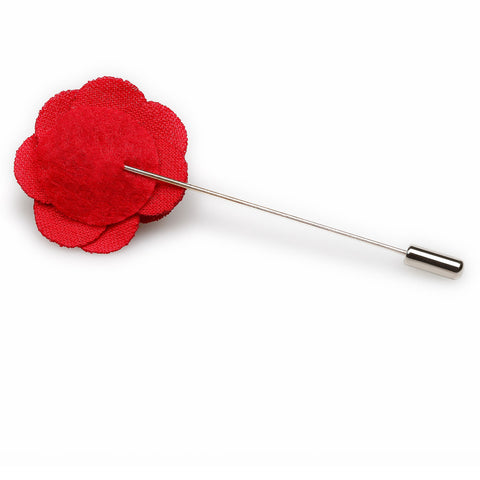 Red Mini Lapel Flower