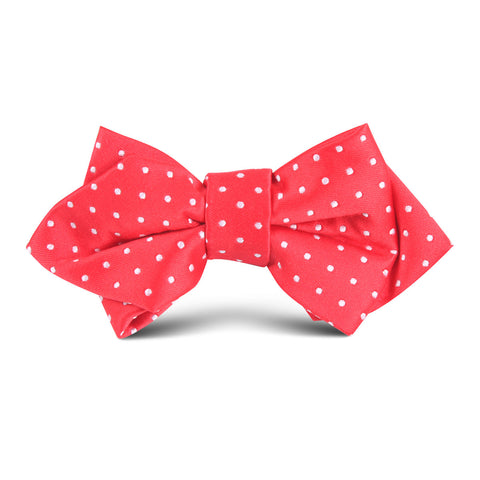 Red Mini Polkadot Kids Diamond Bow Tie