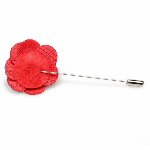 Red Mini Velvet Lapel Pin