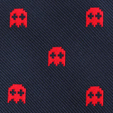 Red Pixel Ghost Bow Tie Fabric