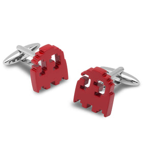 Red Pixel Ghost Cufflinks