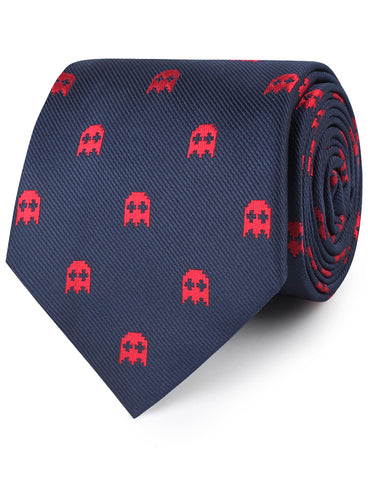 Red Pixel Ghost Necktie