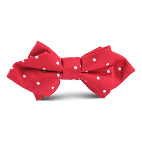 Red Polkadot Kids Diamond Bow Tie