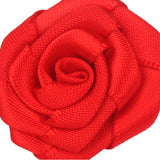 Classic Red Rose Lapel Flower Pin Close Boutonniere