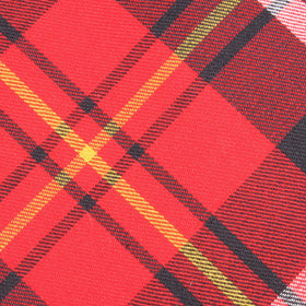 Red Scottish Plaid Cotton Pocket Square