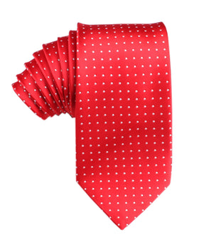 Red Tie with White Polka Dots