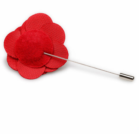 Red Velvet Lapel Flower