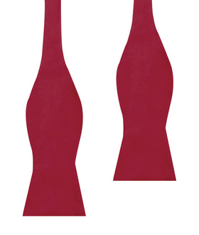 Red Velvet Self Bow Tie