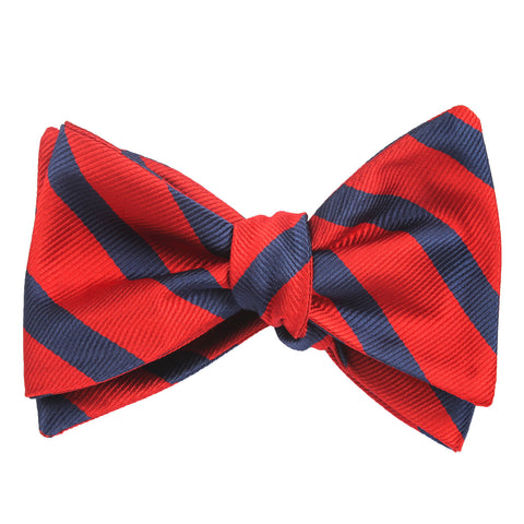Red and Navy Blue Diagonal - Bow Tie (Untied)