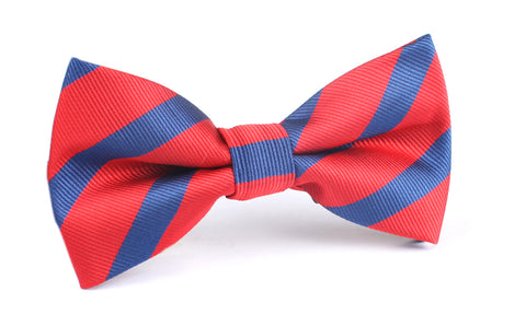Red and Navy Blue Diagonal - Bow Tie