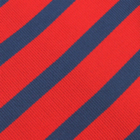 Red and Navy Blue Diagonal Pocket Square