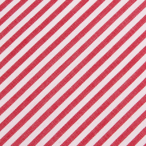 Red and White Chalk Stripe Cotton Bow Tie